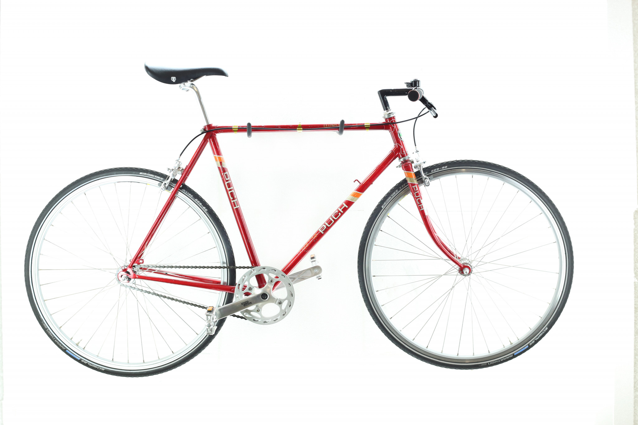 cu puch red 1 - Feuerroter Single-Speed Traum
